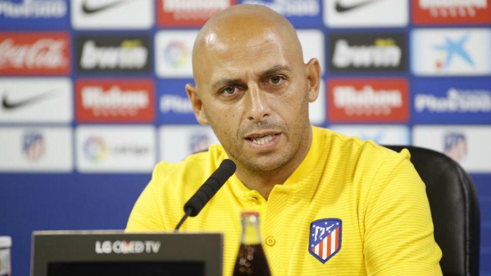 Ángel Villacampa durante la rueda de prensa en la Ciudad Deportiva...