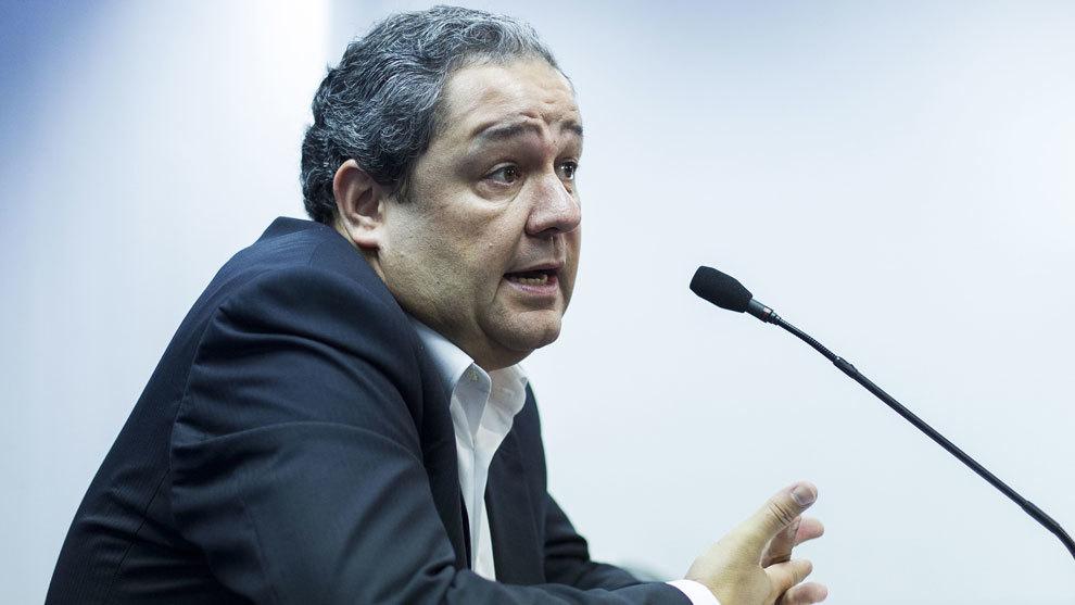 Tino Fernández durante una rueda de prensa