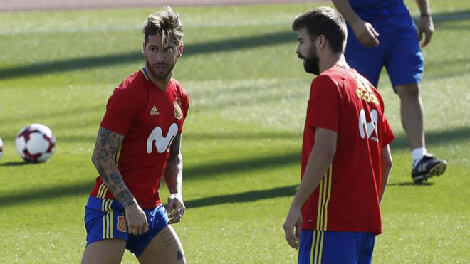 Pero Piqué ya ha aclarado que su relación con Sergio Ramos no es mala 02254f88e4c4