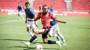 Bryan Reyna durante un partido con el Mallorca esta temporada