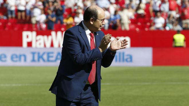 José Castro, antes del partido contra el Málaga.