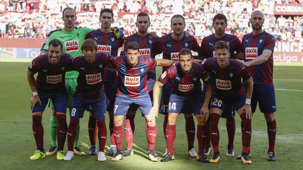 El once del Eibar ante el Sevilla