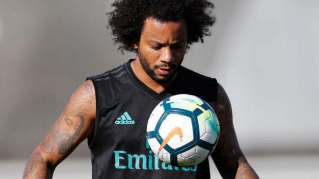 Marcelo durante el entrenamiento