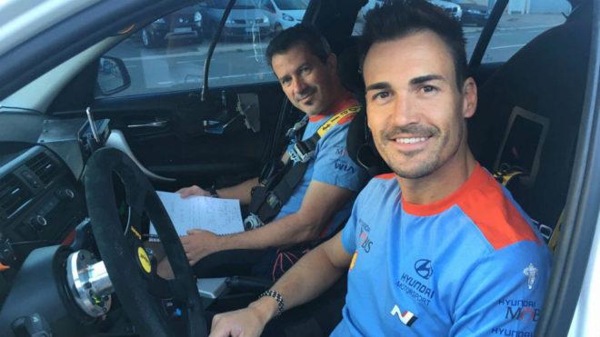Dani Sordo, con Marc Martí.