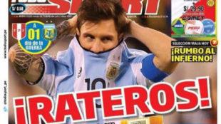 Portada del diario Todo Sport de Per�