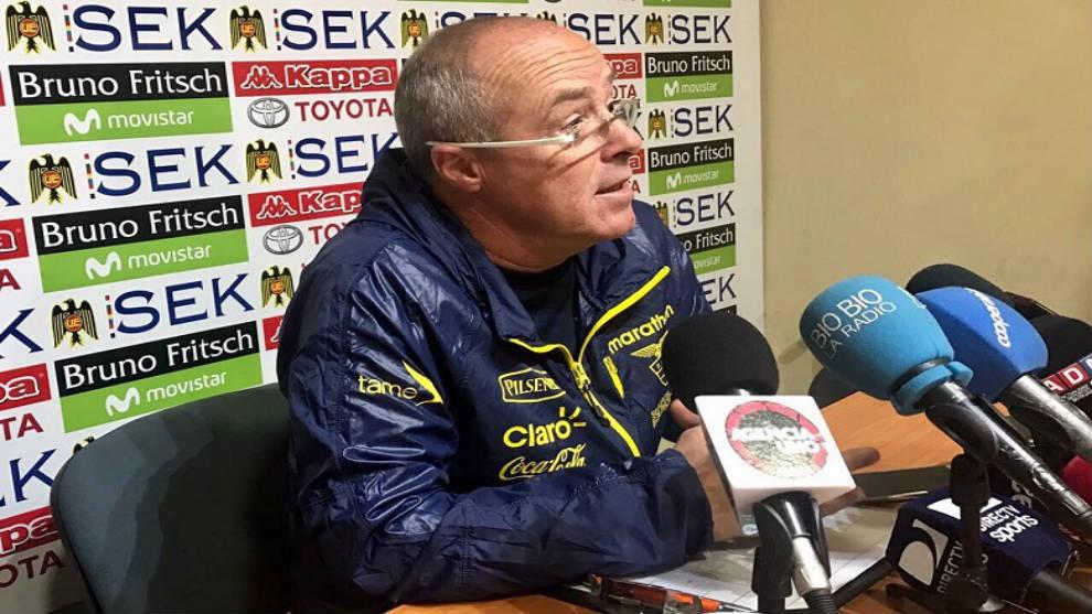 Jorge Célico durante una rueda de prensa