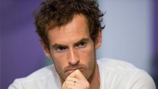 Murray (30), durante una rueda de prensa en Wimbledon