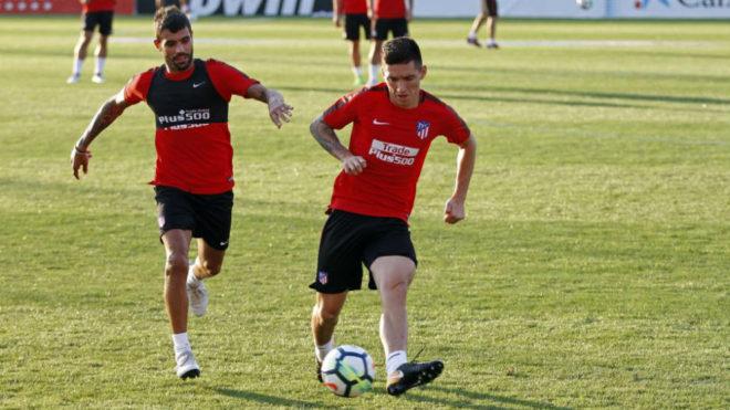 Kranevitter y Augusto en un entrenamiento de pretemporada.