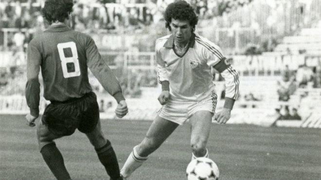 Enrique Montero, en un partido con el club de Nervión.