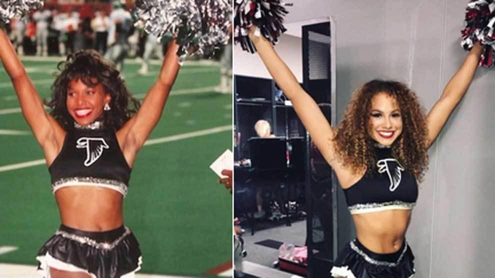 Priscilla Womble, cheerleader de los Atlanta...