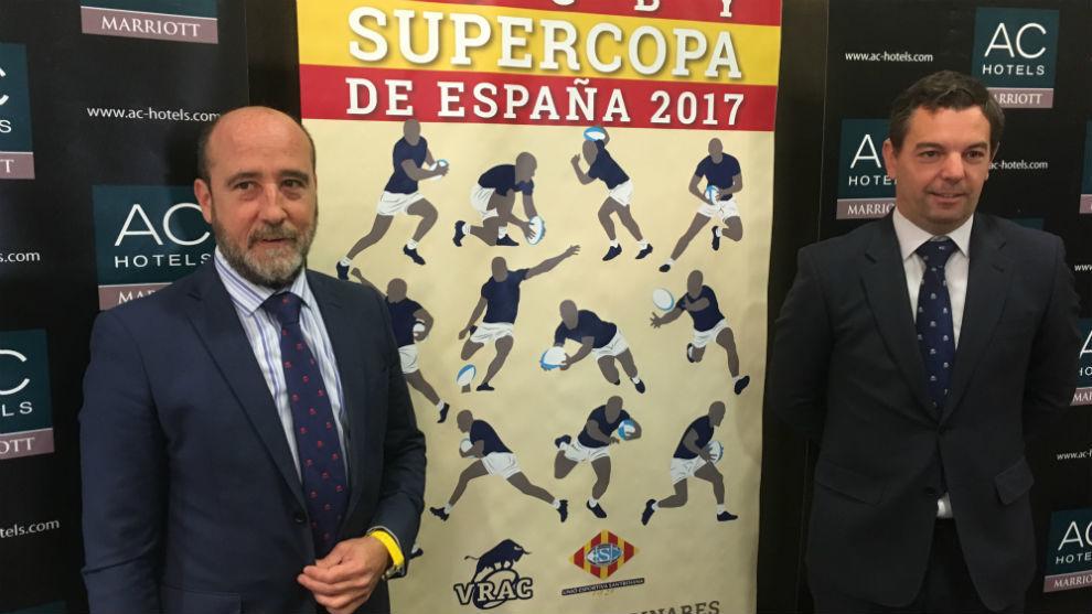 José María Valentín-Gamazo y Alberto Domínguez, del VRAC, con el...