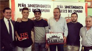 Jorge Guerrero, presidente de la FPS, Nacho Méndez, jugador de la...