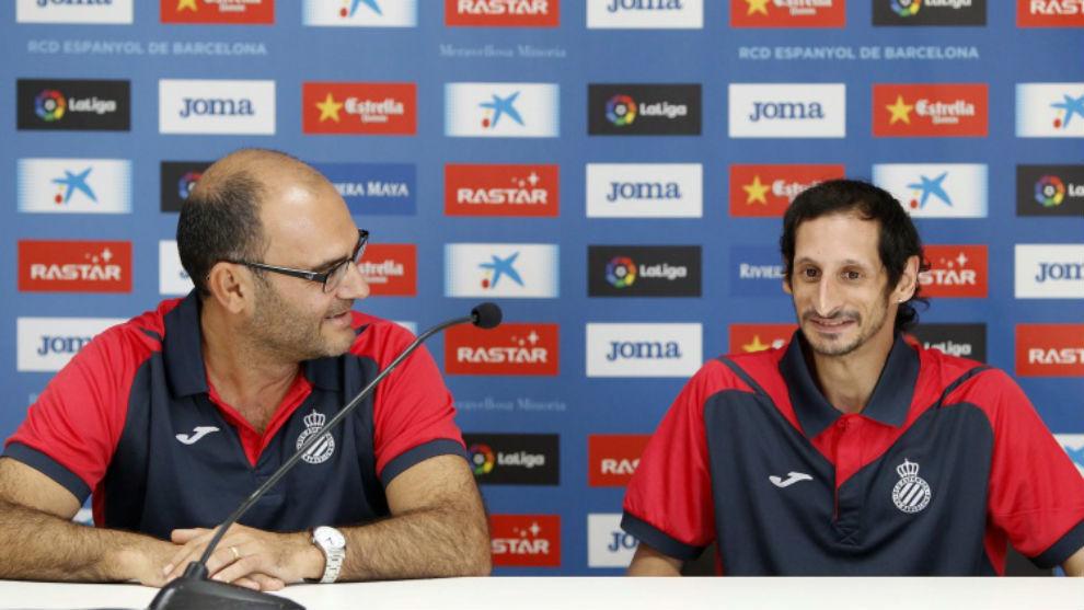 Xavi Tendero y Víctor Fernández, en la rueda de prensa de este...