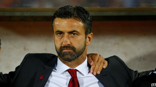 Cristian Panucci, durante un partido de Albania