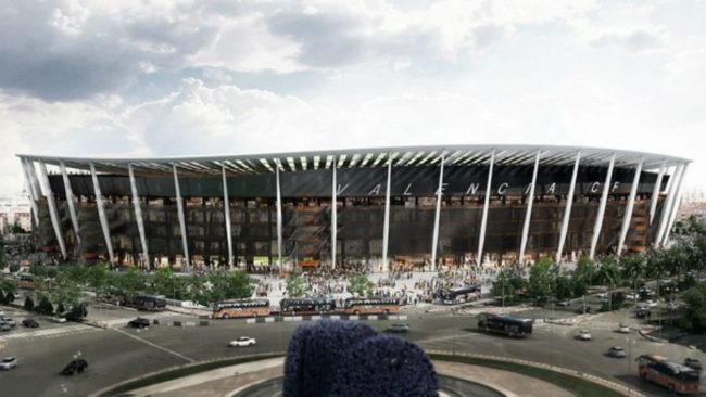 Aspecto definitivo del nuevo estadio del Valencia.