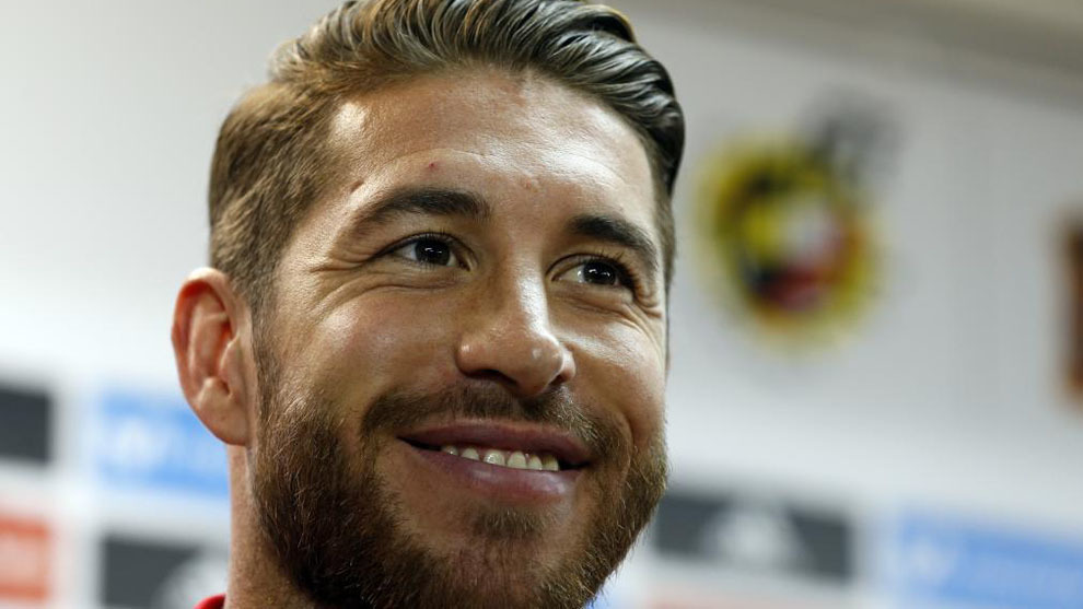 Ramos, en la rueda de prensa de Alicante