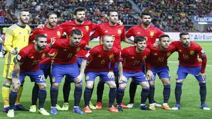 �ste es el once de Espa�a ante Israel en Gij�n (4-1).
