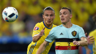 Vermaelen, en un partido con la selecci�n belga.