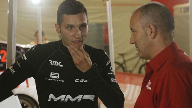 García, junto a Méndez, su mentor.