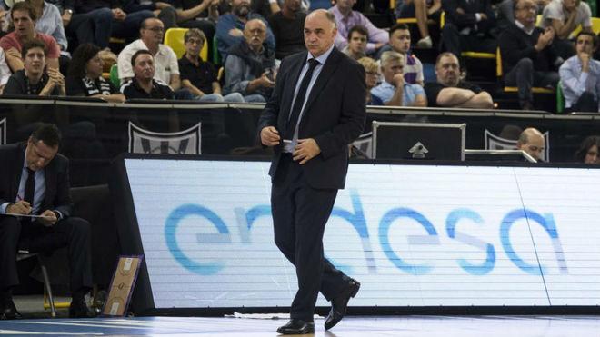 Pablo Laso, durante el encuentro ante el Bilbao Basket.