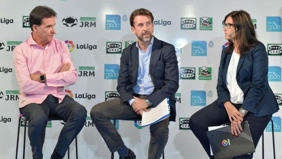 José Ramón de la Morena, director de El Transistor; Carlos Alonso,...