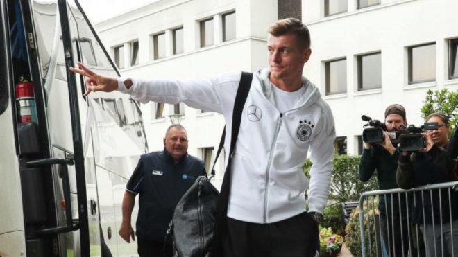 Toni Kroos, en la concentración alemana.