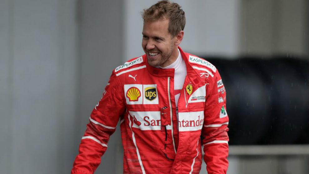 Sebastian vettel (Ferrari), en Suzuka
