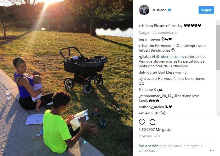 რონალდუს ოჯახური ფოტო Instagram-ზე