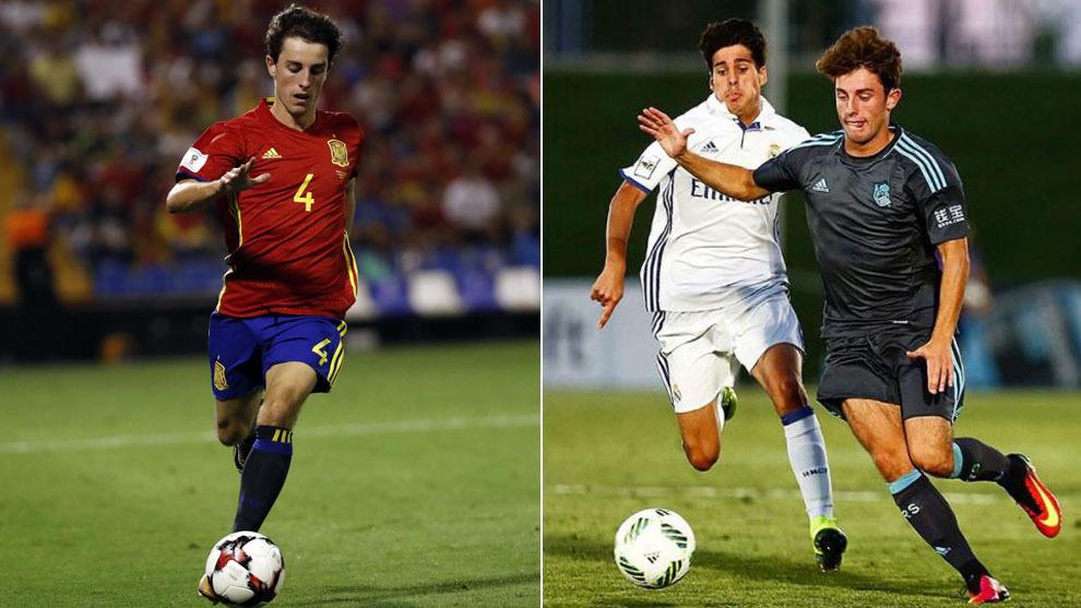 En su debut con España y con el filial de la Real frente al Castilla