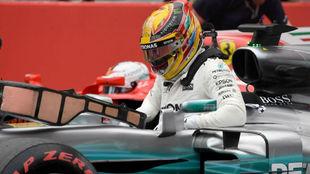Lewis Hamilton, tras conseguir la 'pole' en Suzuka