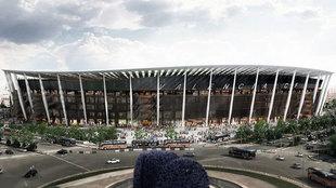 Redise�o del estadio del Nuevo Mestalla.