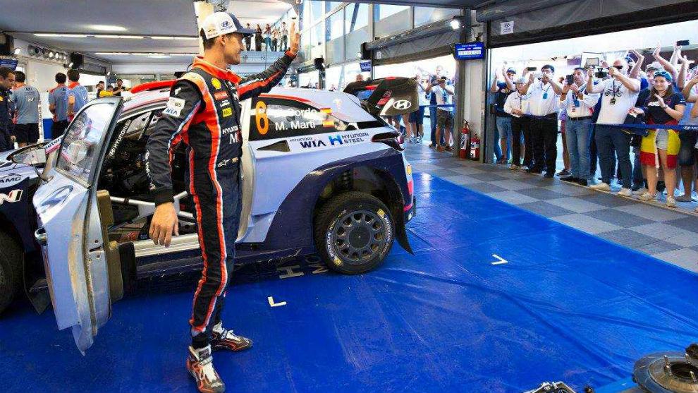 Dani Sordo, en el Rally de Catalunya