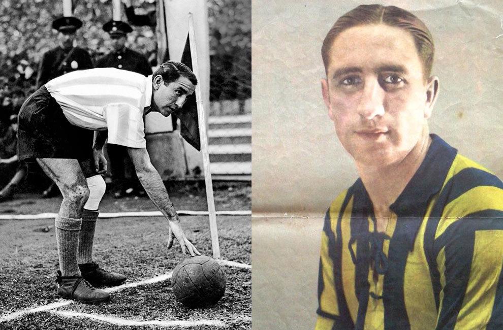 Enrique 'Chueco' García, con la camiseta de Rosario Central