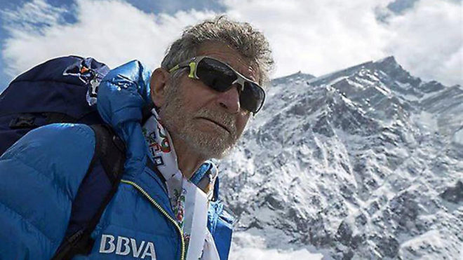 Carlos Soria durante una de sus expediciones.