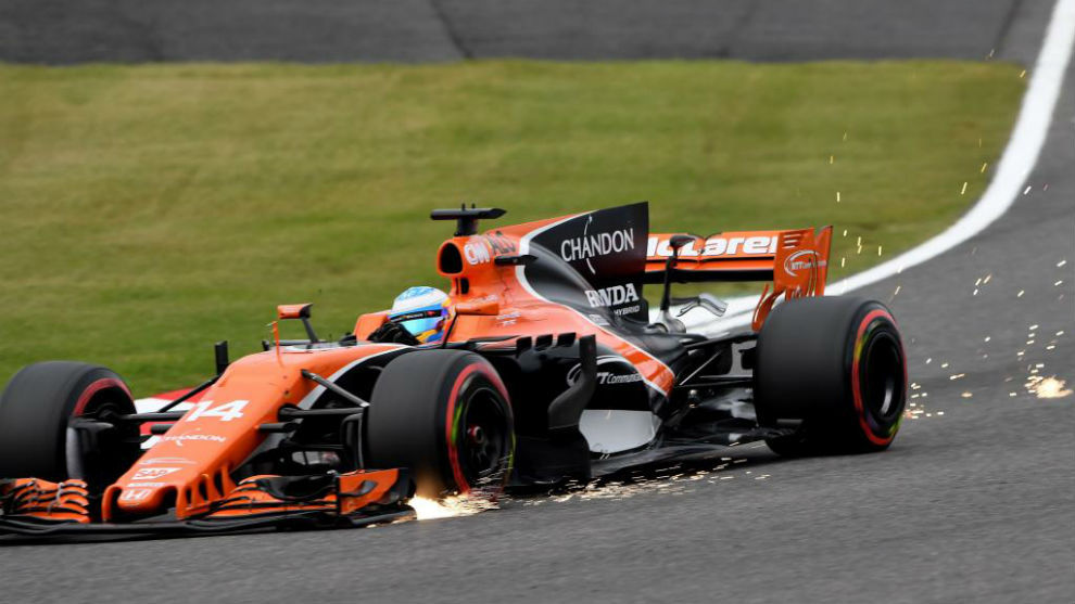 Alonso, durante el GP de Japón