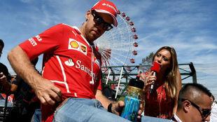 Sebastian Vettel, en el circuito de Suzuka