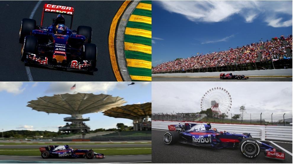 Han sido 56 carreras en Toro Rosso para el 55 de la parrilla