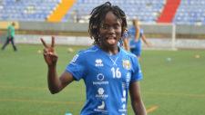 Koko Ange N'Guessan (26), durante un entrenamiento en La Palmera