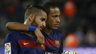 Douglas y Neymar.