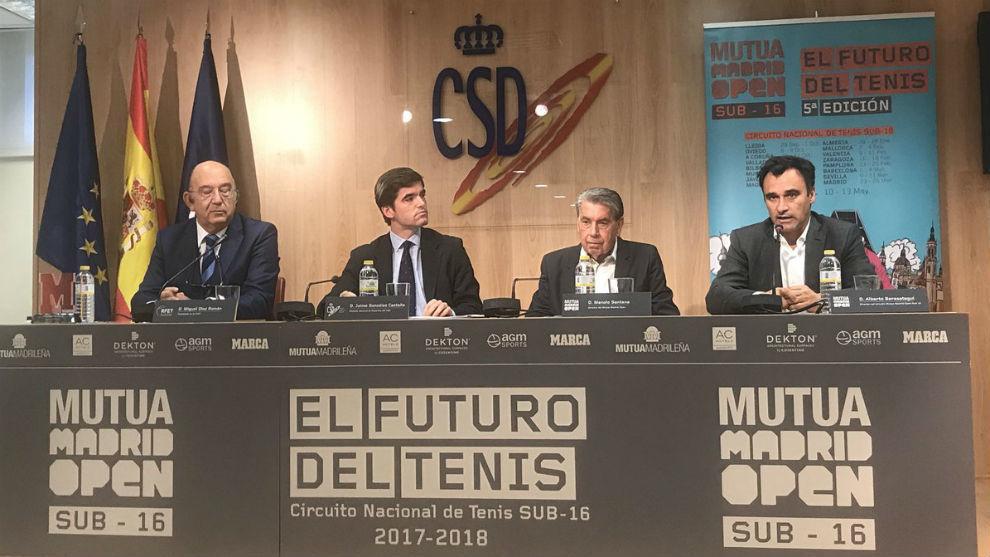 Miguel Díaz, Jaime González Castaño, Manolo Santana y Alberto...