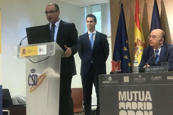 Juan Ignacio Gallardo, director de MARCA, durante el acto de...