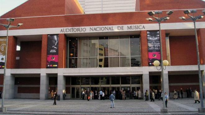 Fachada del edificio que alberga el Auditorio Nacional de Música en...