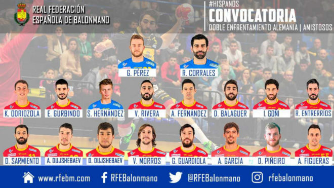 La convocatoria de los 18 'Hispanos' para el doble amistoso ante...