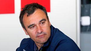 Alberto Berasategui durante una entrevista en la redacci�n de MARCA
