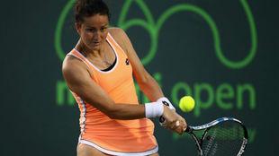 Lara Arruabarrena durante el Open de Miami.