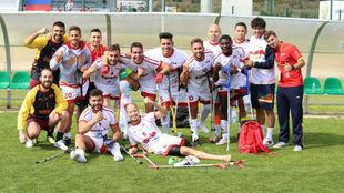 Los jugadores españoles después de un encuentro.