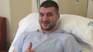 Beqa Burjanadze, tras la operaci�n.
