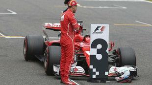 Vettel, en Japón, tras la calificación disputada el sábado