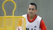 Fabi�n Orellana, durante un entrenamiento con el Valencia.