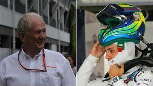 Helmut Marko y Felipe Massa.